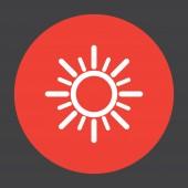 Sun vector icon — Stock Vector
