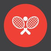 Tennis racket ball vector icon — Stock Vector