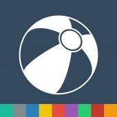Beach ball icon — Stock Vector