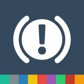 Car parking brake signal vector icon — Stockvektor