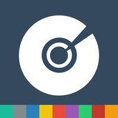 Cd dvd vector icon — Stock Vector