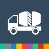 Cement truck vector icon — Stock Vector