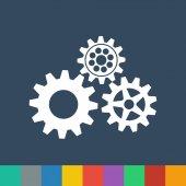 Gears vector icon — Stock Vector