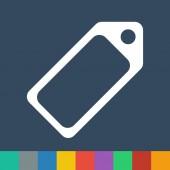 Label vector icon — Stock Vector
