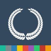 Laurel wreath symbol vector icon — Stock Vector