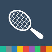 Racket ball vector icon — Stock Vector