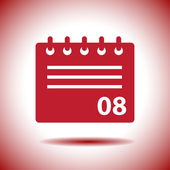 Calendar vector icon — Stock Vector