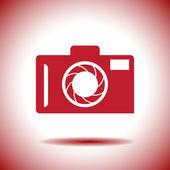 Camera vector icon — Stock Vector