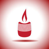 Candle vector icon — Stock Vector