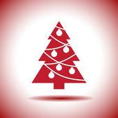 Christmas tree vector icon — Stock Vector