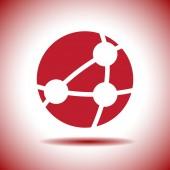 Global network vector icon — Stock Vector