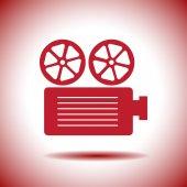 Movie projector vector icon — Stock Vector