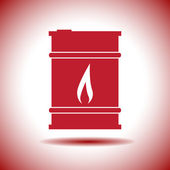 Oil barrel vector icon — Stock Vector