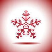 Snowflake vector icon — Stock Vector