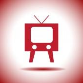 Television symbol vector icon — Stock Vector