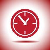 Time clock vector icon — Stock Vector