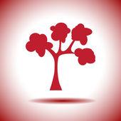 Tree vector icon — Stock Vector