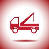 Truck crane icon — Vecteur