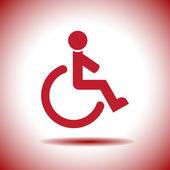 Wheelchair vector icon — Stock Vector