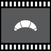 Croissant vector icon — Stock Vector