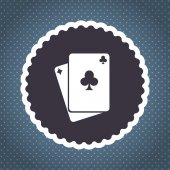 Playing cards vector icon — Stock Vector