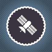 Satellite vector icon — Stock Vector