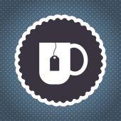 Tea cup vector icon — Stock Vector