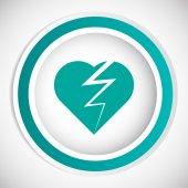 Broken heart vector icon — Stock Vector