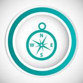 Compass vector icon — Stock Vector