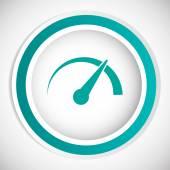 Gauge speedometer vector icongauge speedometer vector icon — Stock Vector