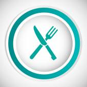 Knife and fork menu vector icon — Stock Vector