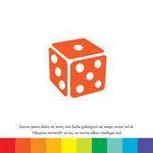 Gambling dice vector icon — Stock Vector