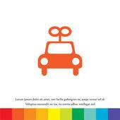 Toy car vector icon — Stock Vector