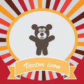 Teddy bear vector icon — Stock Vector
