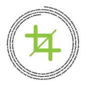 Ernte-Zeichen-Vektor-Symbol — Stockvektor