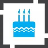 Birthday cake vector icon — Stock Vector