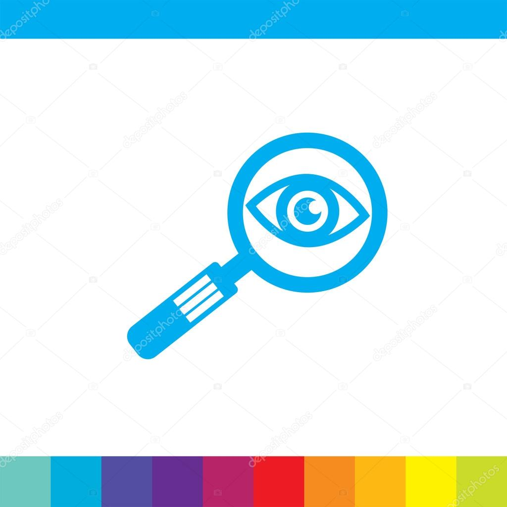 放大镜和眼睛矢量图标