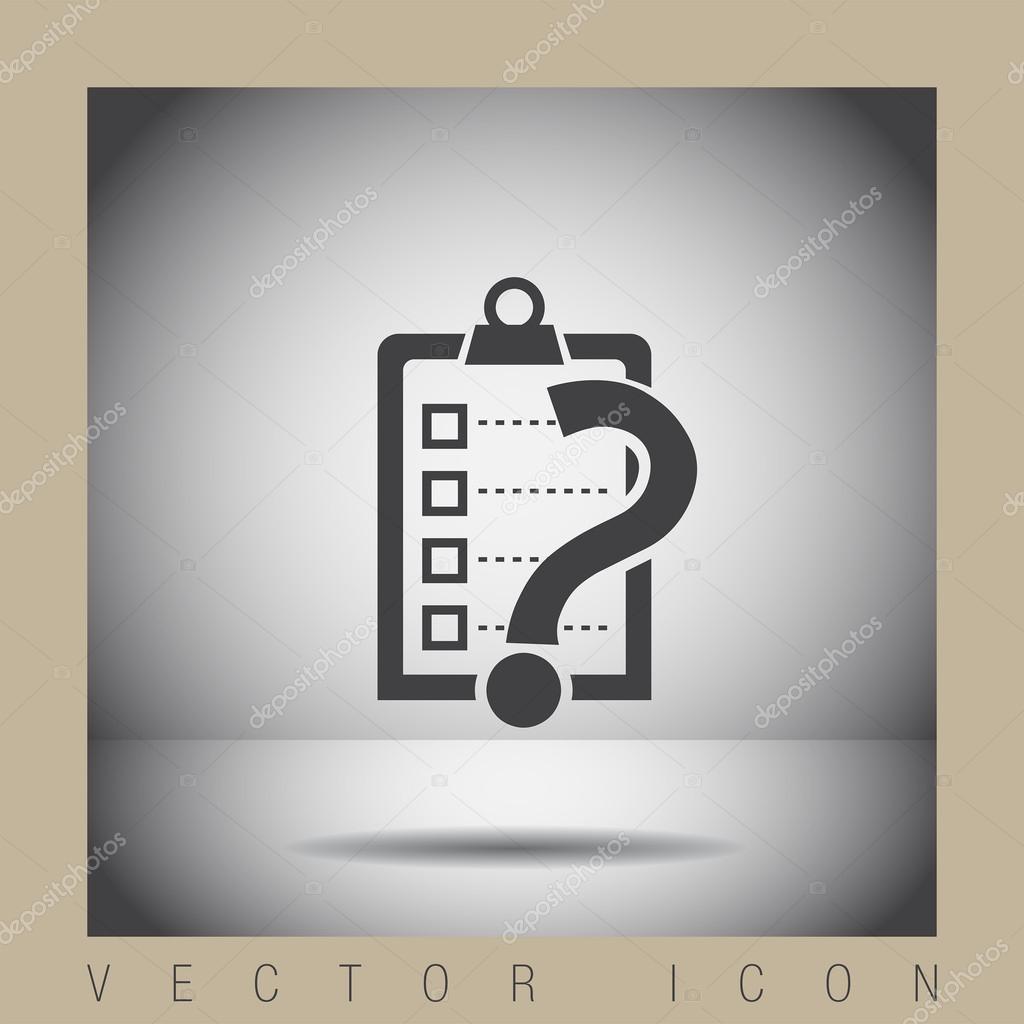 check list question mark vector icon stock vector copy quka check list question mark vector icon stock illustration