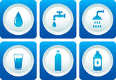 Water and plumbing icon set — Stock Vector