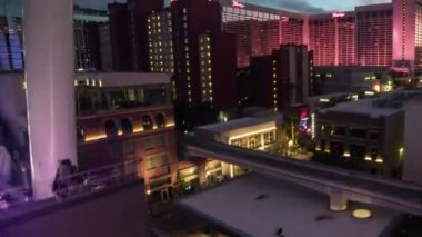The Linq High Roller Las Vegas Time Lapse — Stock Video