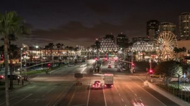 Shoreline Drive Time Lapse Video at Night — Stock Video