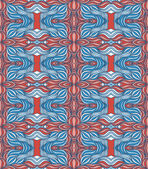 Fondo con ondas abstractas doodle — Vector de stock
