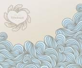 Template design for card.  — Vector de stock