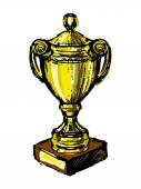 Vector illustration of Trophy cup — Stock Vector