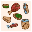 Good appetite food collection vector illustration — Stock Vector #82111044