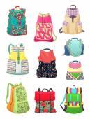 Backpacks for girls — Stock Vector