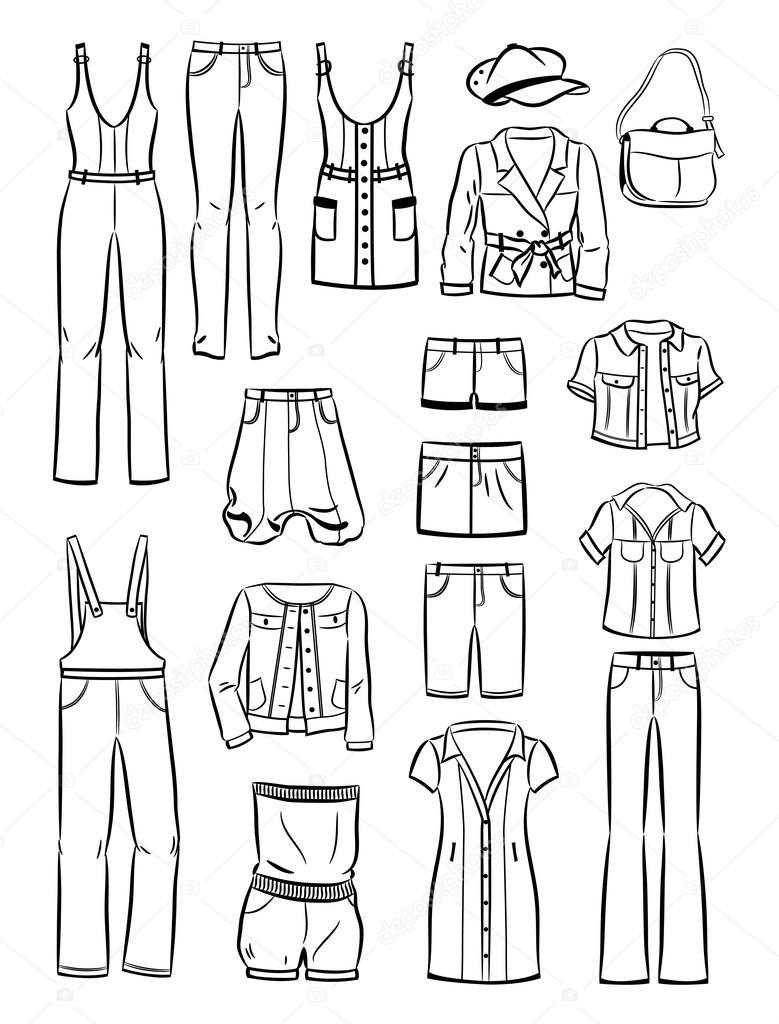 Женская Одежда Рисунки С Доставкой
