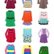 Children's dresses — Stock Vector #66422765