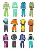 Sport tracksuits for boys — Stock Vector