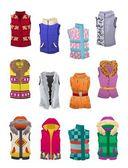 Women's autumn and winter vests — Stock Vector